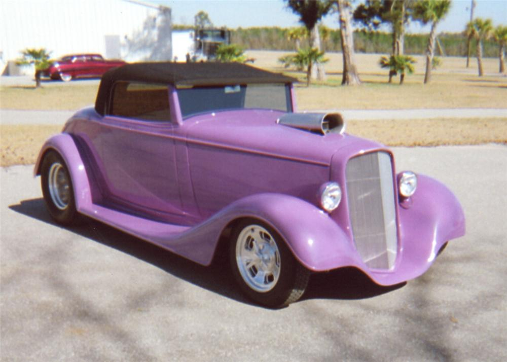 1934 CHEVROLET HOT ROD CABRIOLET - Front 3/4 - 64005