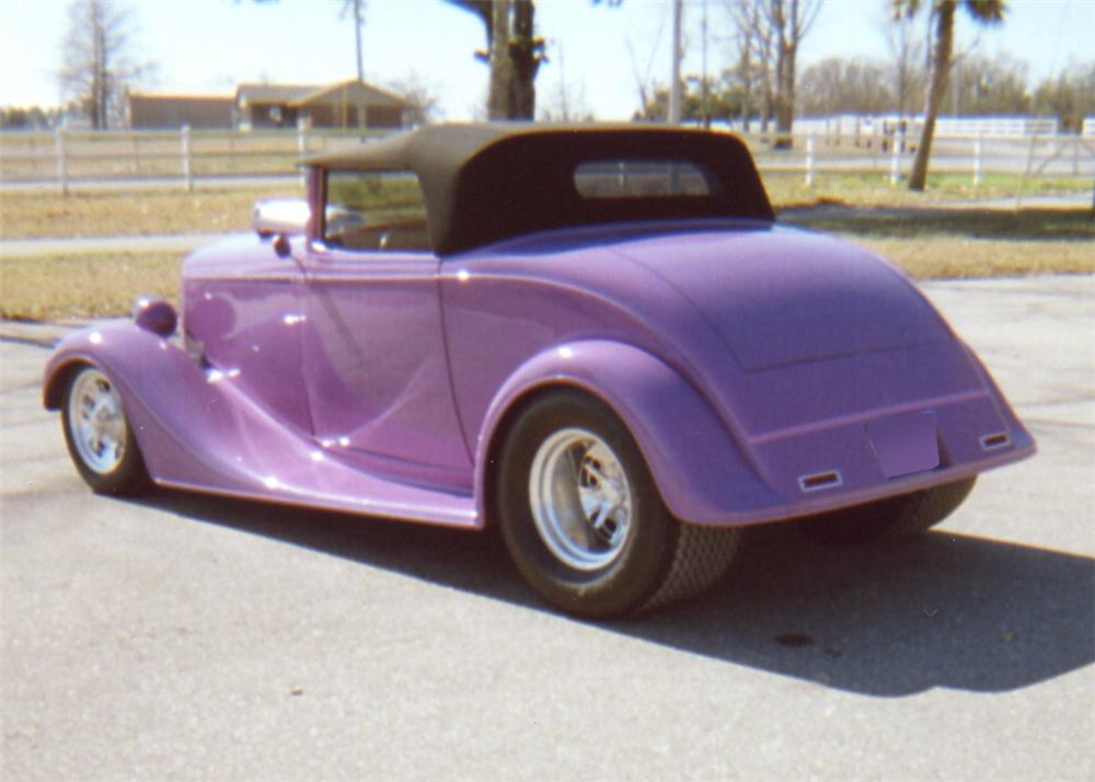 1934 CHEVROLET HOT ROD CABRIOLET - Rear 3/4 - 64005