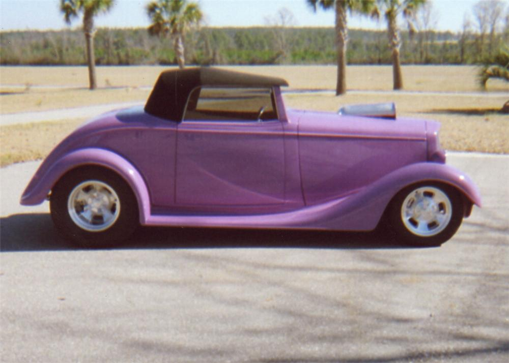 1934 CHEVROLET HOT ROD CABRIOLET - Side Profile - 64005