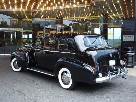 1940 CADILLAC FLEETWOOD LIMO CUSTOM 4 DOOR - Rear 3/4 - 64008