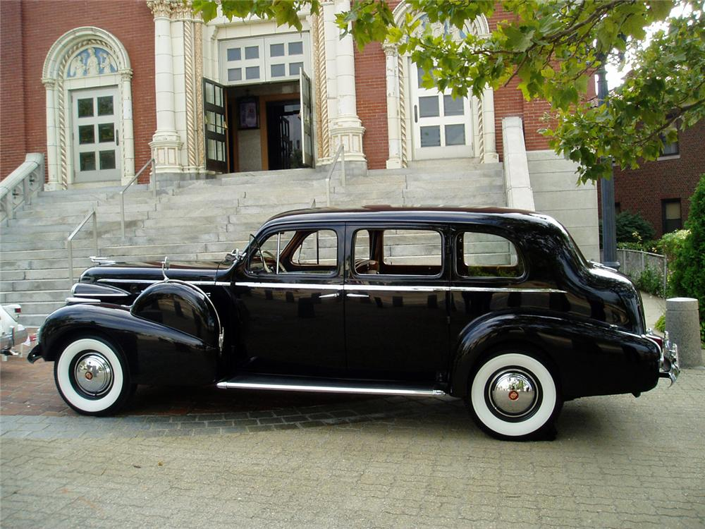 1940 CADILLAC FLEETWOOD LIMO CUSTOM 4 DOOR - Side Profile - 64008