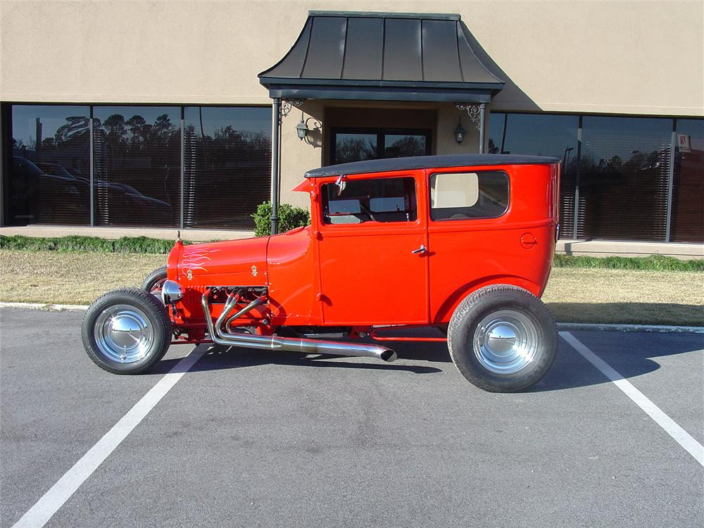 1927 FORD CUSTOM COUPE - Side Profile - 64016