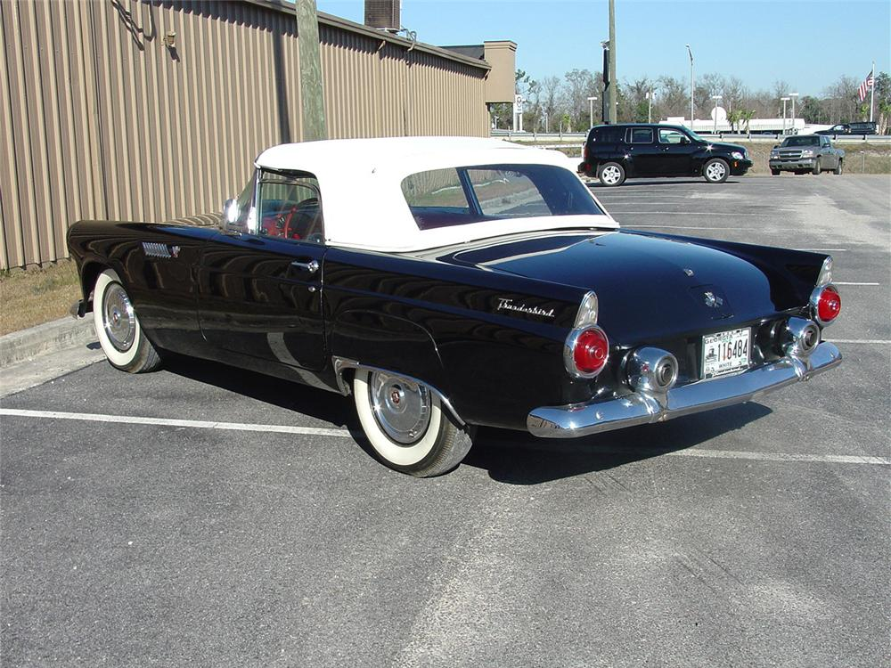 1955 FORD THUNDERBIRD CONVERTIBLE - Rear 3/4 - 64019
