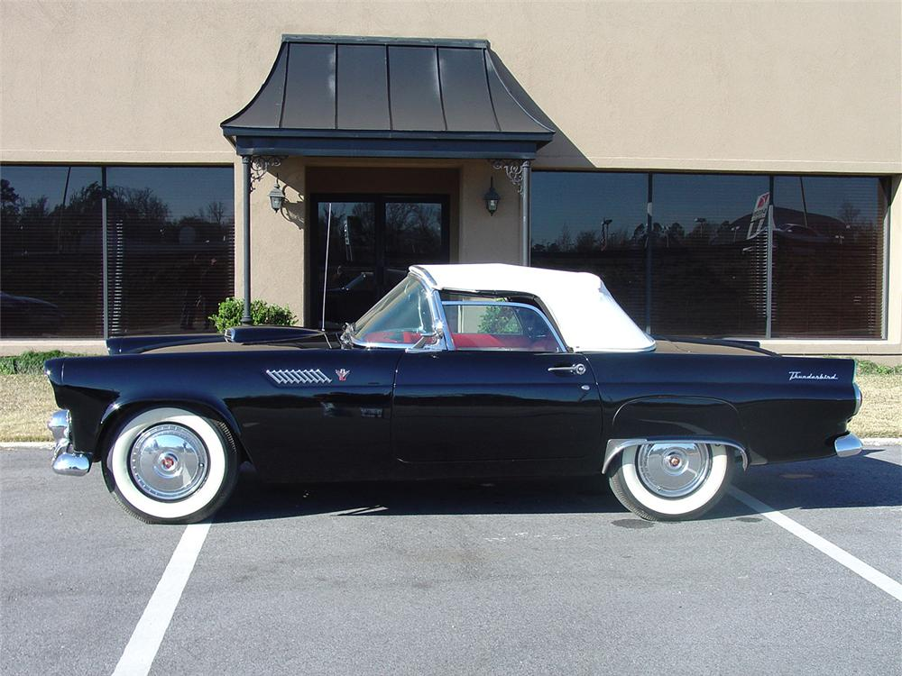 1955 FORD THUNDERBIRD CONVERTIBLE - Side Profile - 64019