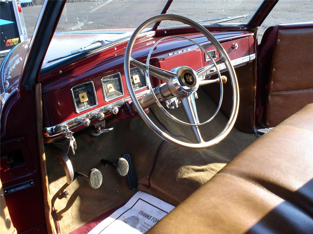 1949 DODGE WAYFARER SPORTS ROADSTER - Interior - 64025