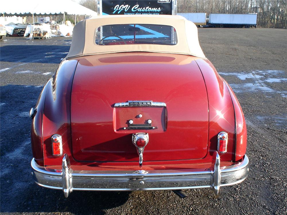 1949 DODGE WAYFARER SPORTS ROADSTER - Rear 3/4 - 64025