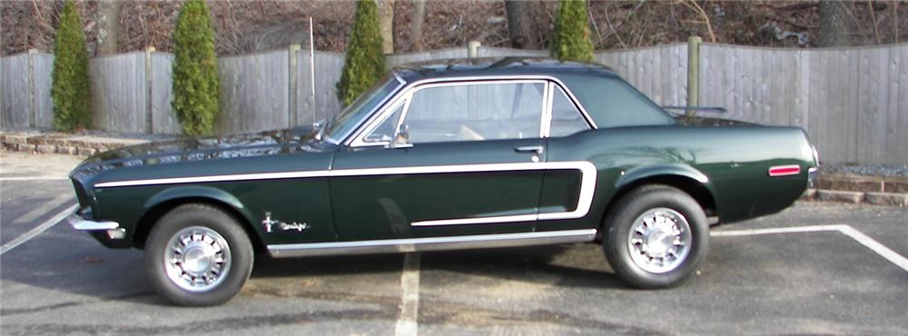 1968 FORD MUSTANG 2 DOOR HARDTOP - Side Profile - 64037