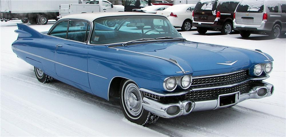 1959 CADILLAC COUPE DE VILLE 2 DOOR COUPE - Front 3/4 - 64042