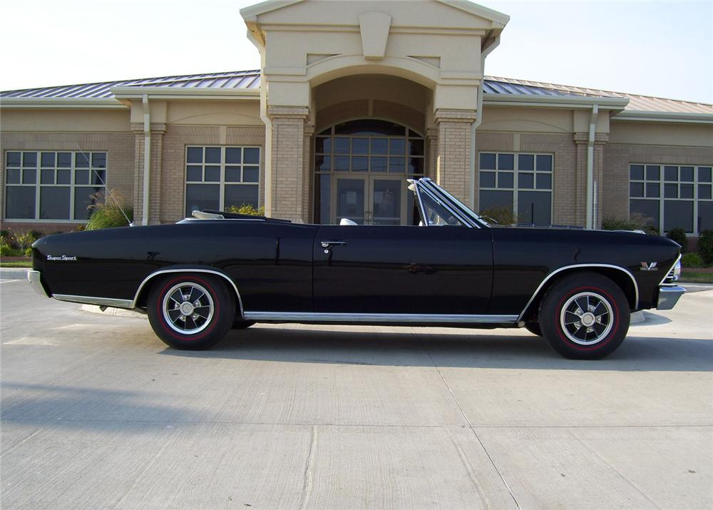 1966 CHEVROLET CHEVELLE SS 396 CONVERTIBLE - Side Profile - 64056