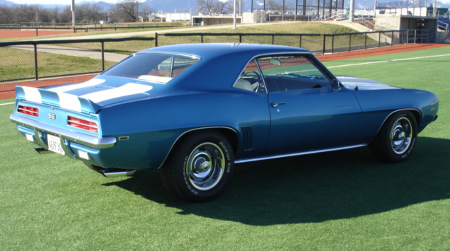 1969 CHEVROLET CAMARO RS/SS COUPE - Rear 3/4 - 64077