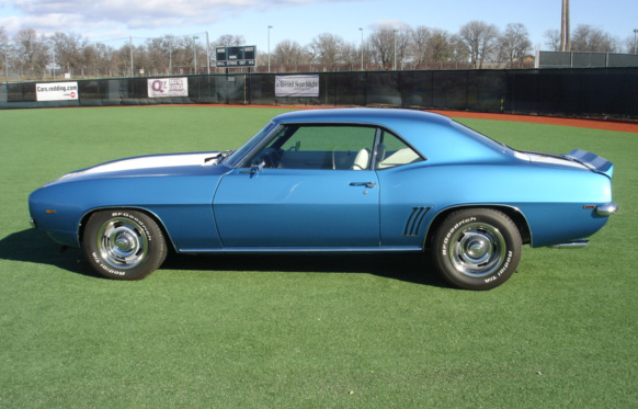 1969 CHEVROLET CAMARO RS/SS COUPE - Side Profile - 64077
