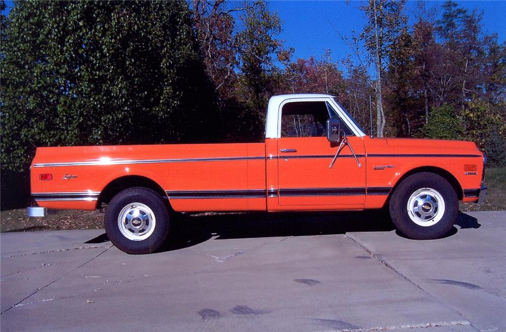 1971 CHEVROLET C-20 LONGHORN PICKUP - Side Profile - 64078