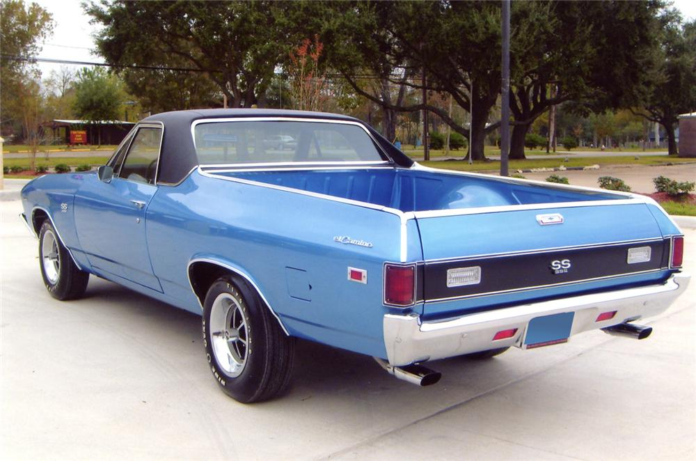 1969 CHEVROLET EL CAMINO SS PICKUP - Rear 3/4 - 64084