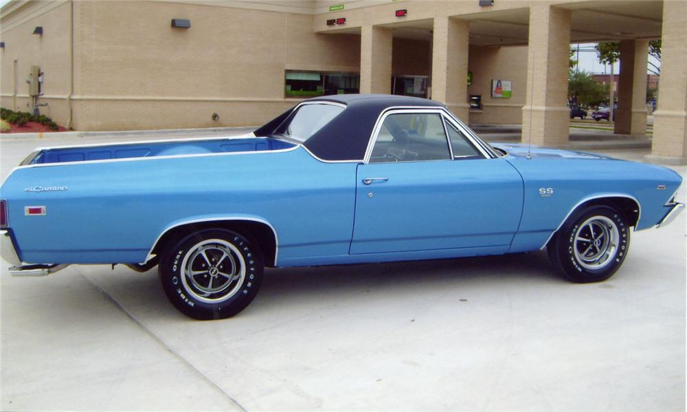 1969 CHEVROLET EL CAMINO SS PICKUP - Side Profile - 64084