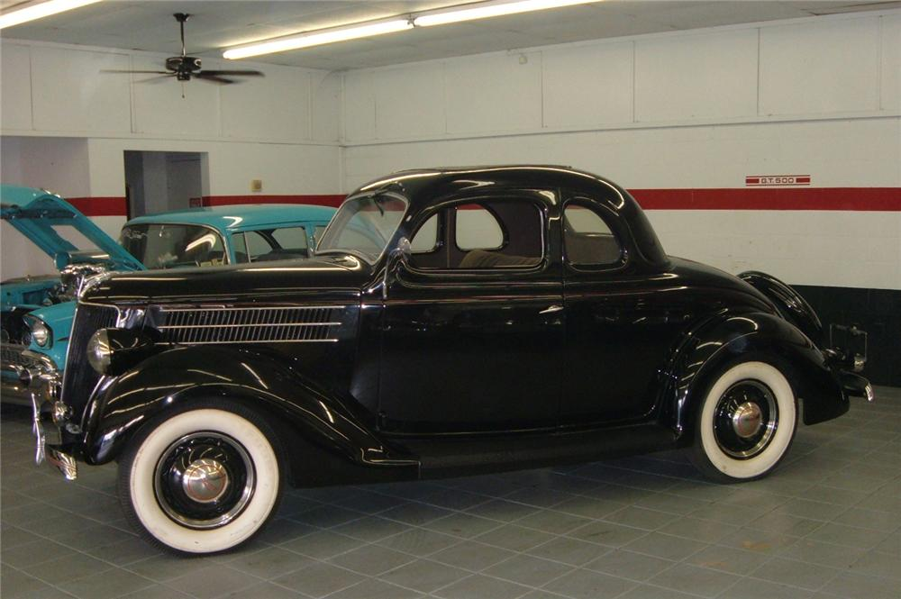 1936 FORD 5 WINDOW COUPE - Side Profile - 64101