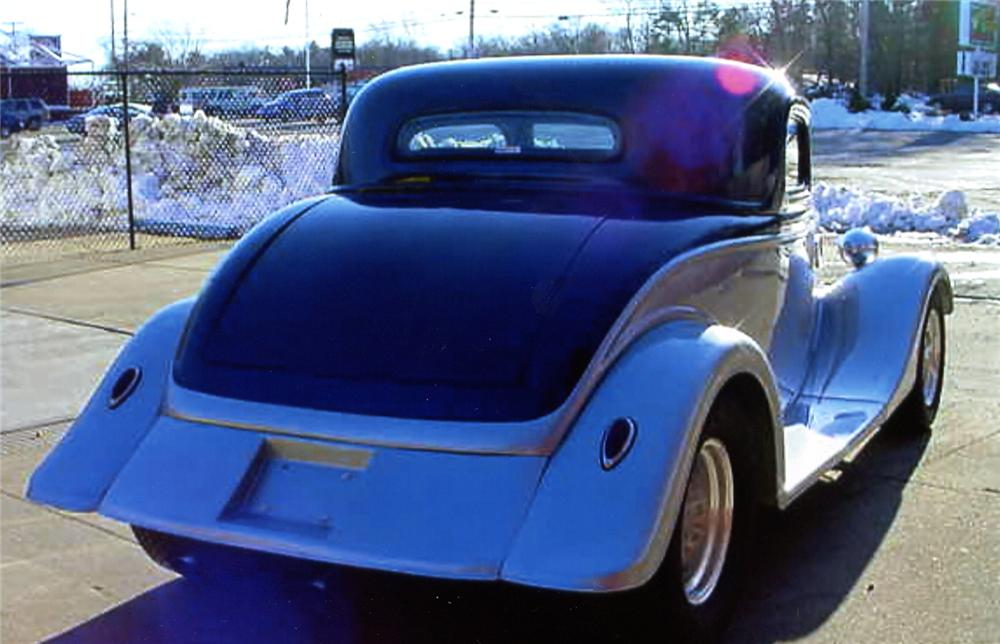 1934 FORD 3 WINDOW COUPE RE-CREATION - Rear 3/4 - 64118