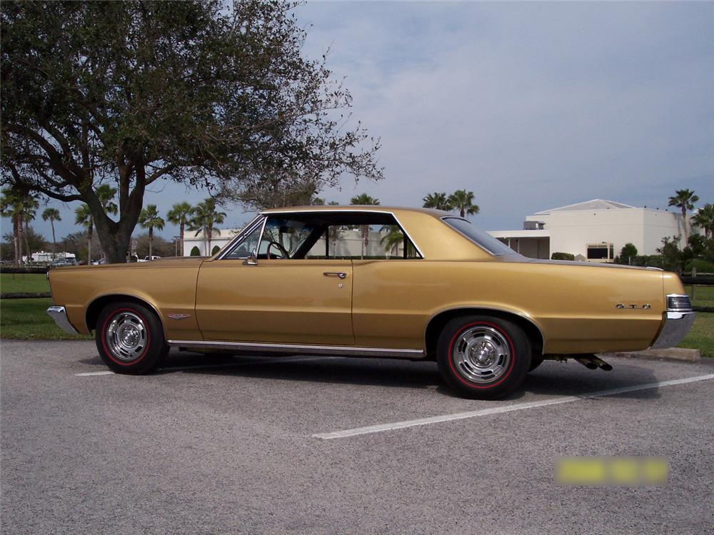 1965 PONTIAC GTO 2 DOOR HARDTOP - Side Profile - 64124