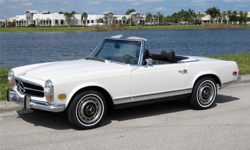 1970 MERCEDES-BENZ 280SL ROADSTER - Front 3/4 - 64133
