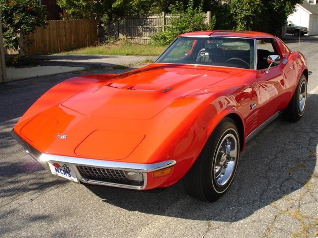 1970 CHEVROLET CORVETTE COUPE - Front 3/4 - 64137
