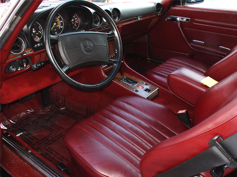 mercedes 560sl benz 1987 interior roadster cars