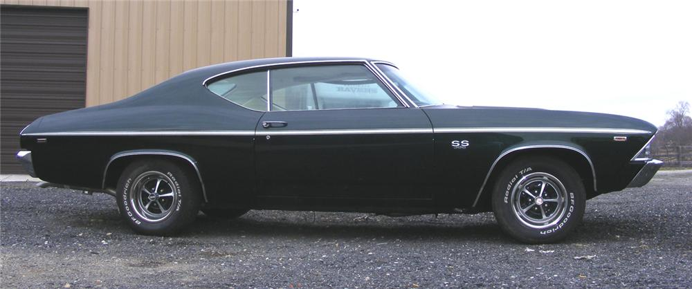 1969 CHEVROLET CHEVELLE SS 396 2 DOOR HARDTOP - Side Profile - 64185