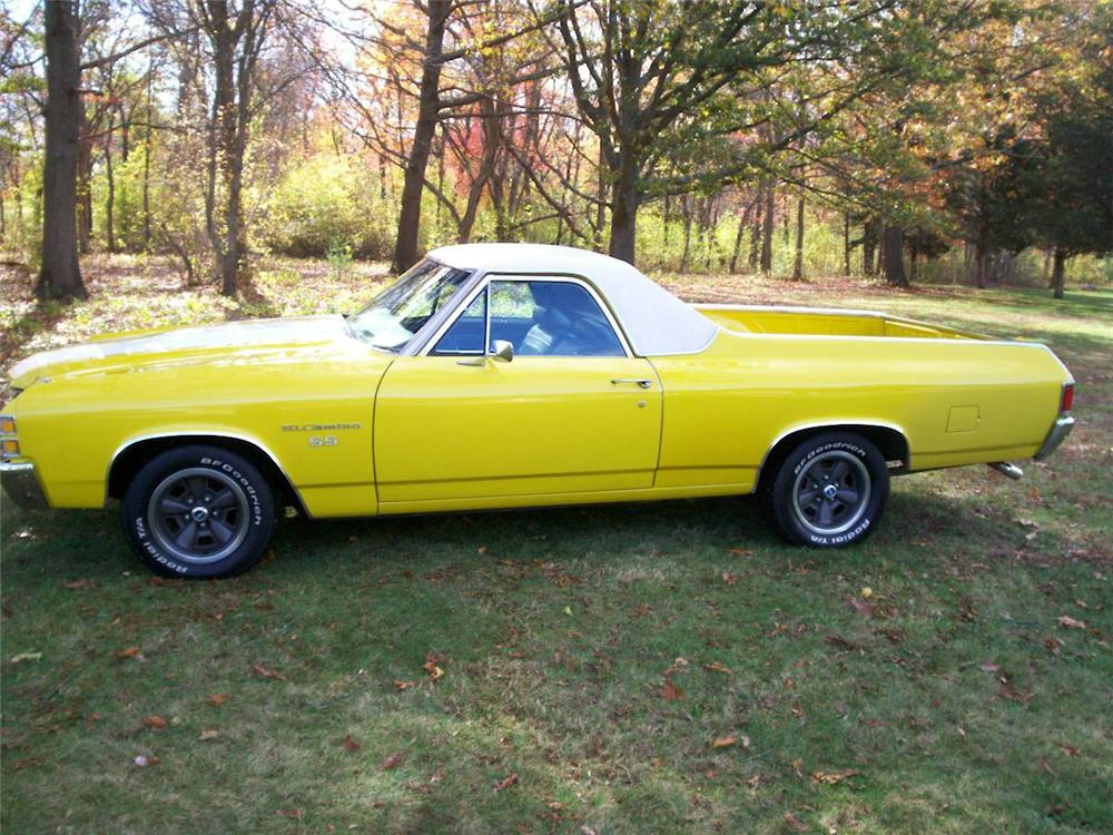 1971 CHEVROLET EL CAMINO PICKUP - Side Profile - 64200