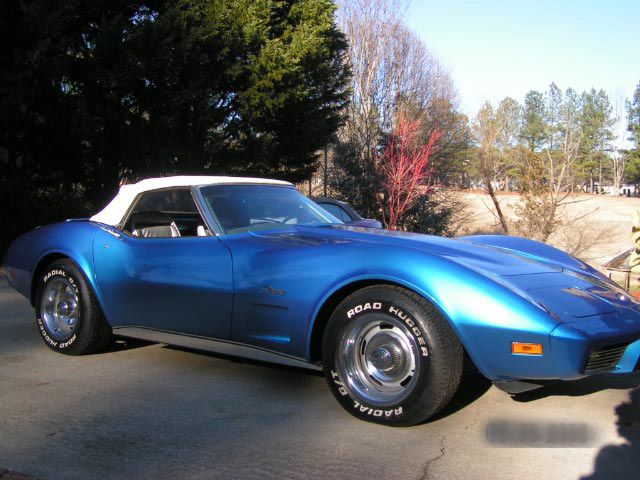 1975 CHEVROLET CORVETTE CONVERTIBLE - Front 3/4 - 64202