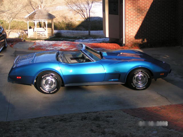1975 CHEVROLET CORVETTE CONVERTIBLE - Side Profile - 64202