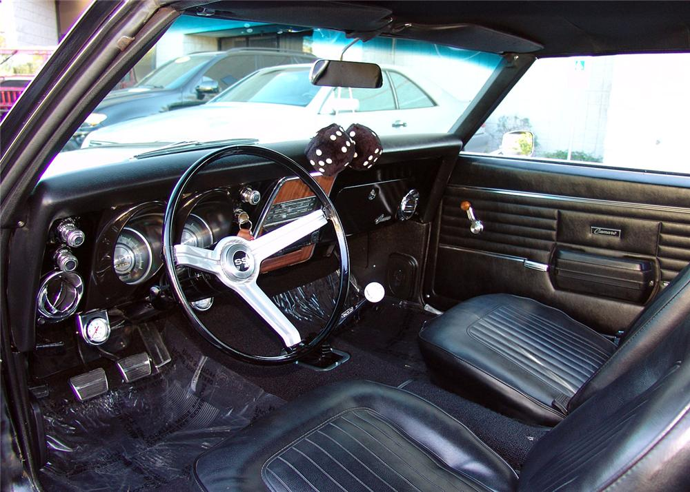 1968 CHEVROLET CAMARO RS/SS CUSTOM COUPE - Interior - 64211