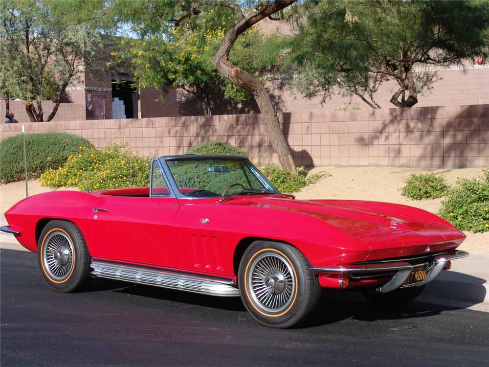 1965 CHEVROLET CORVETTE CONVERTIBLE - Front 3/4 - 64214