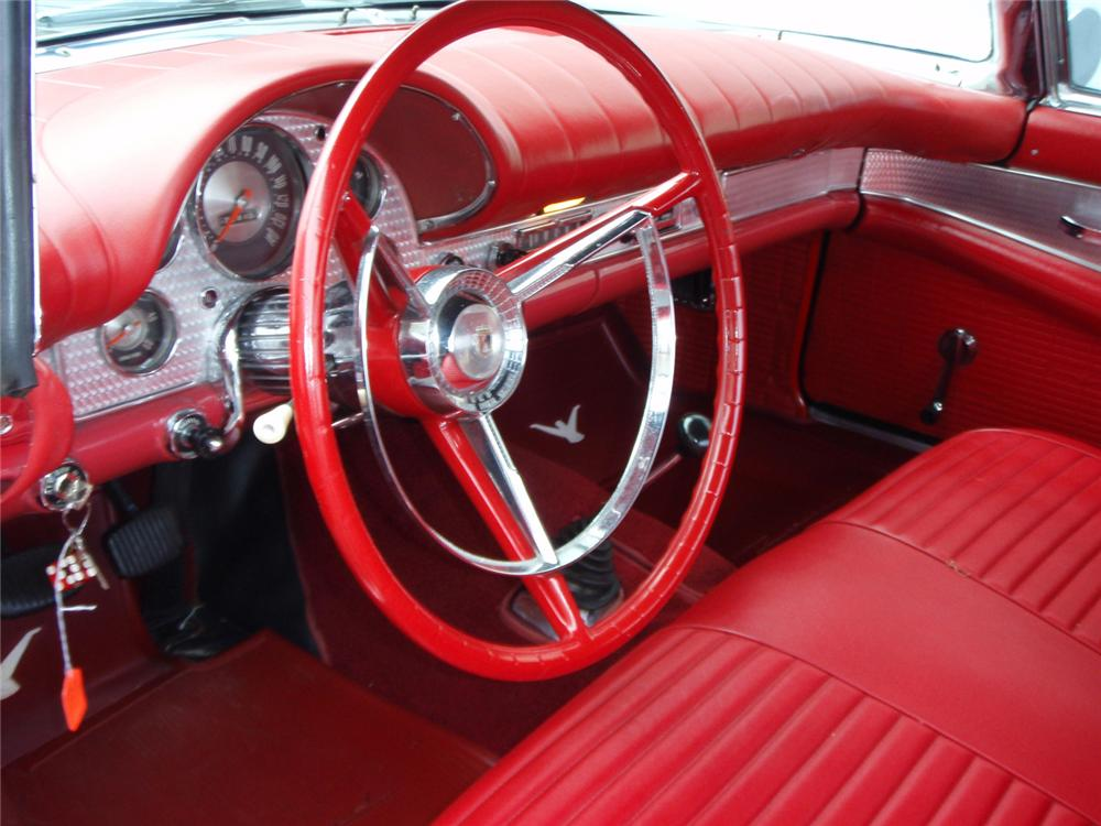1957 FORD THUNDERBIRD E CONVERTIBLE - Interior - 64219