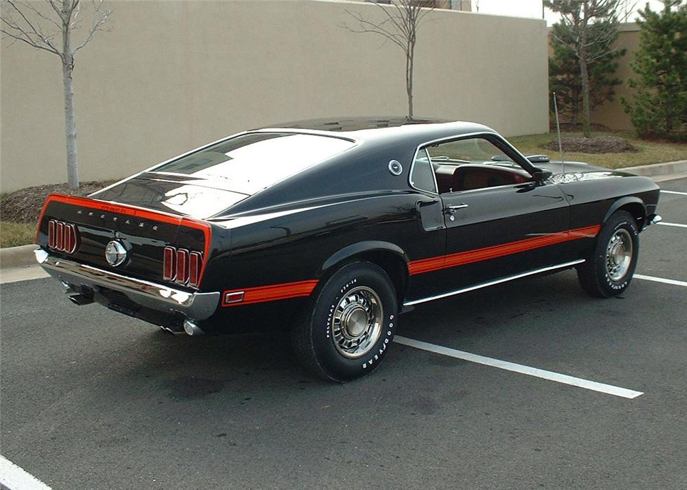 1969 FORD MUSTANG 428 SCJ MACH 1 FASTBACK - Rear 3/4 - 64221
