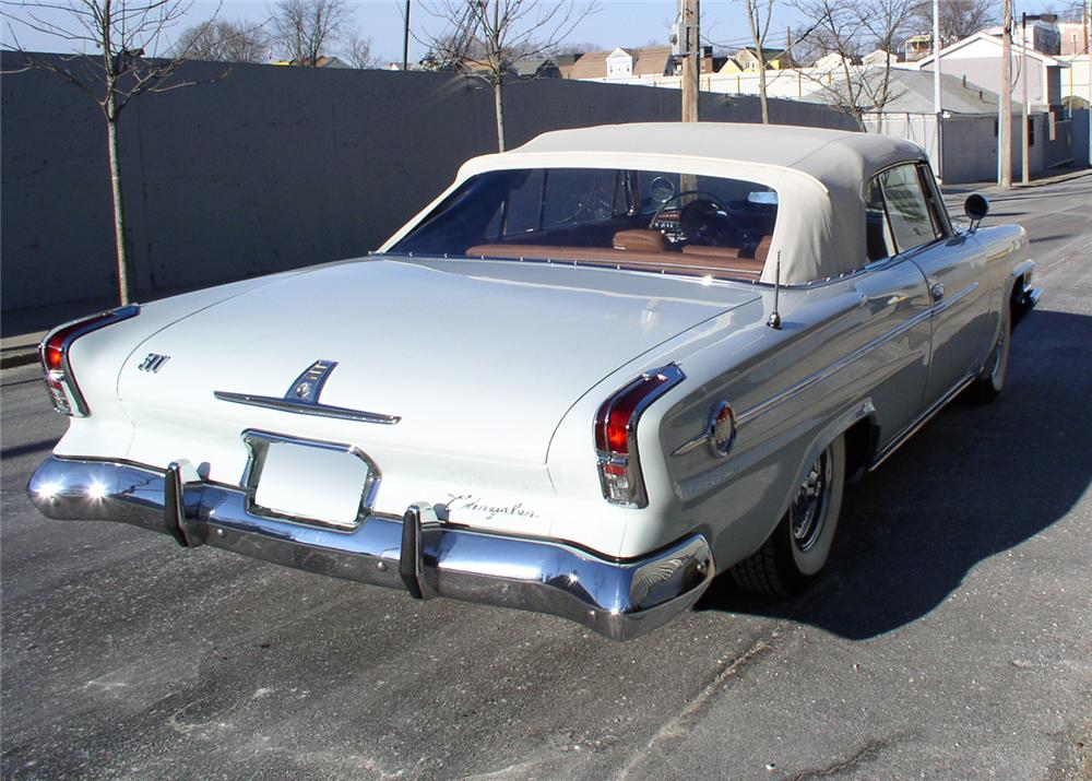 1962 CHRYSLER 300 2 DOOR CONVERTIBLE - Rear 3/4 - 64222