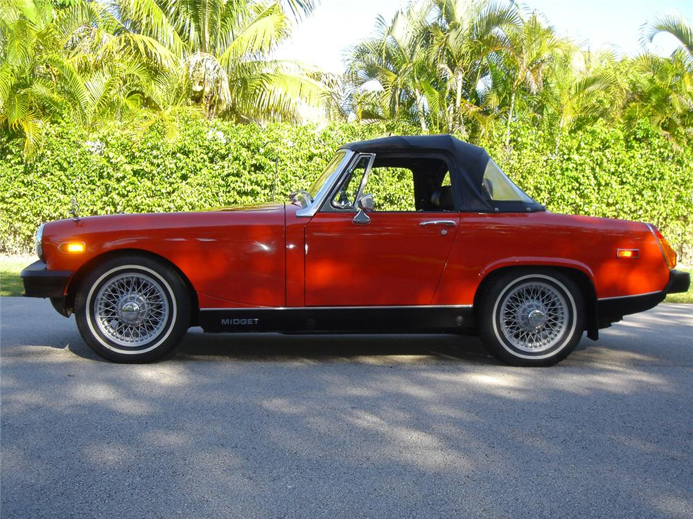 1975 MG 1500 MIDGET CONVERTIBLE - Side Profile - 64246