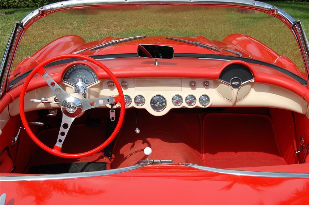 1957 CHEVROLET CORVETTE CONVERTIBLE - Interior - 64253