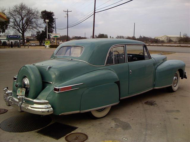 1948 LINCOLN CONTINENTAL 2 DOOR COUPE - Rear 3/4 - 64263