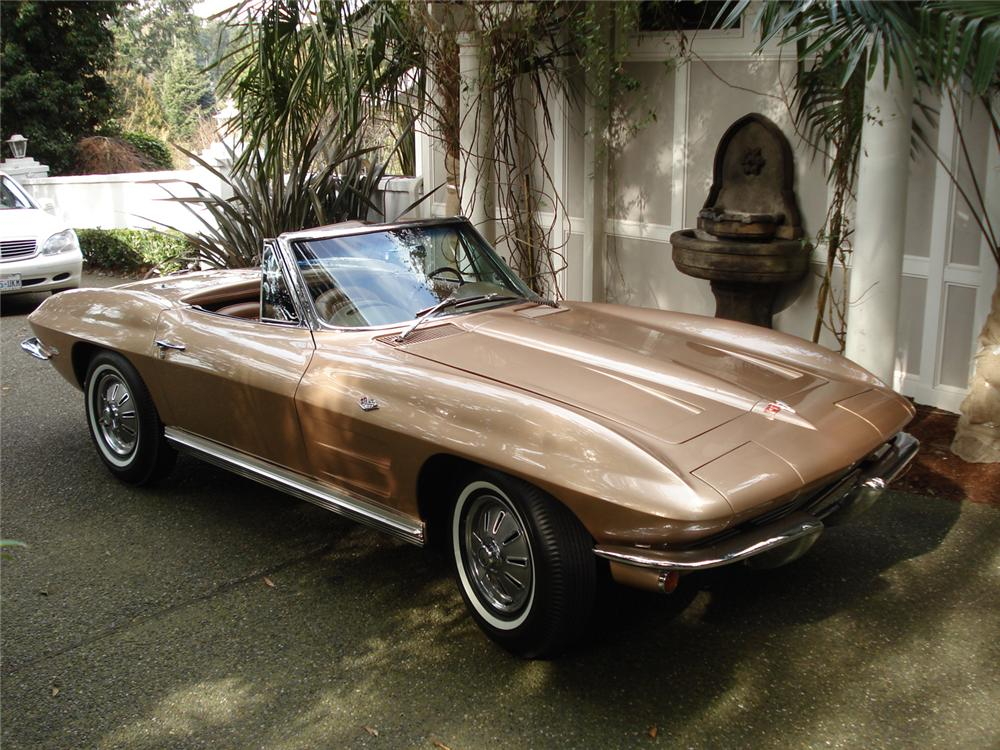 1964 CHEVROLET CORVETTE CONVERTIBLE - Front 3/4 - 64265