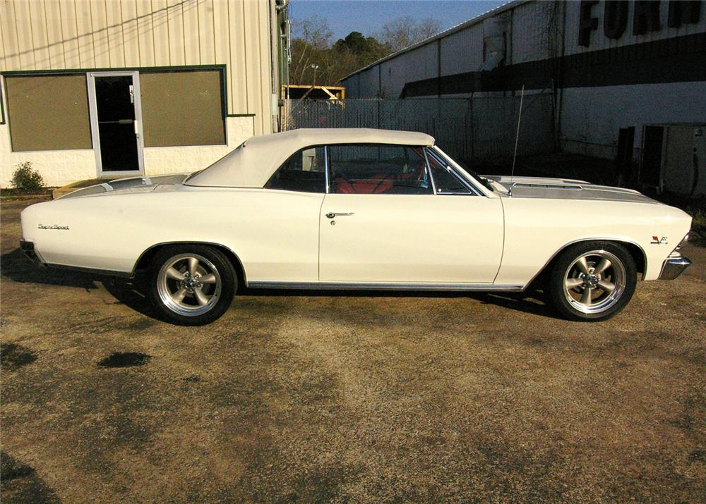 1966 CHEVROLET CHEVELLE SS 396 CONVERTIBLE - Side Profile - 64269