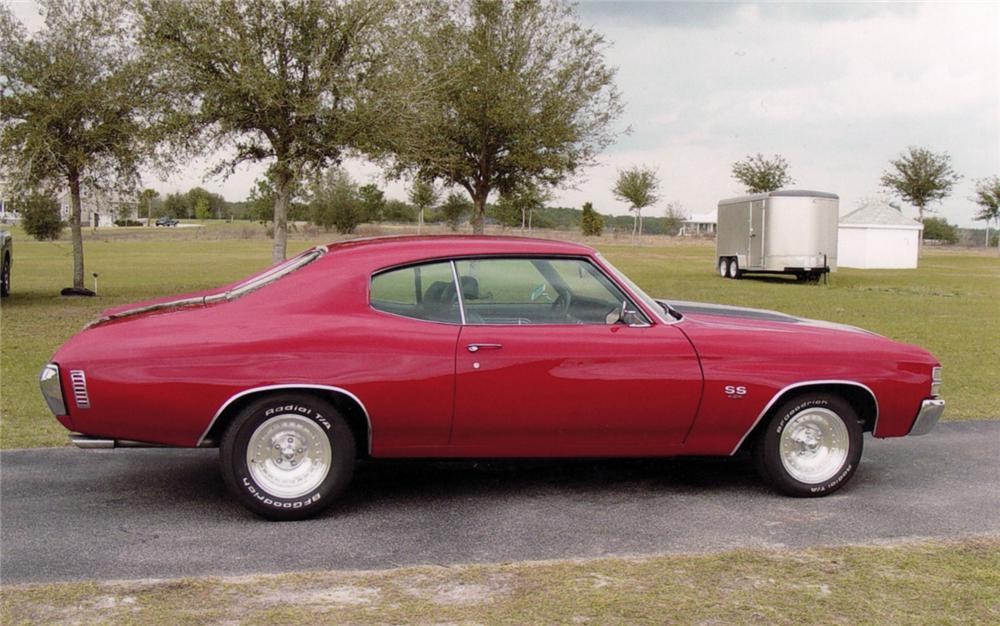 1971 CHEVROLET CHEVELLE COUPE - Front 3/4 - 64275