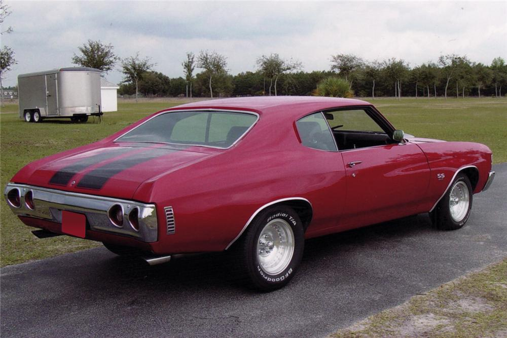 1971 CHEVROLET CHEVELLE COUPE - Rear 3/4 - 64275