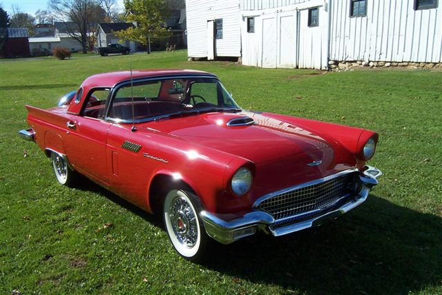 1957 FORD THUNDERBIRD CONVERTIBLE - Front 3/4 - 64276