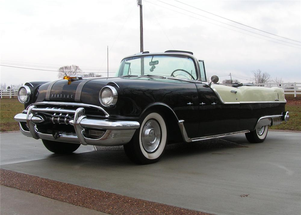 1955 PONTIAC STAR CHIEF CONVERTIBLE - Front 3/4 - 64293