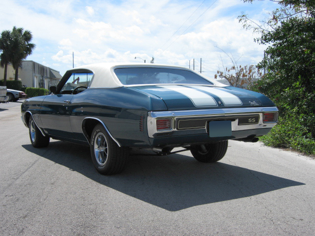1970 CHEVROLET CHEVELLE MALIBU SS 2 DOOR COUPE - Rear 3/4 - 64295
