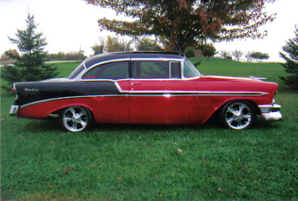 1956 CHEVROLET BEL AIR CUSTOM 2 DOOR POST - Side Profile - 64296