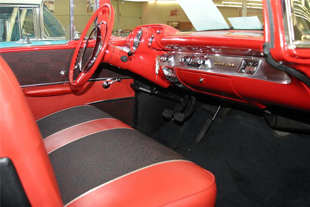1957 CHEVROLET BEL AIR FI 2 DOOR HARDTOP - Interior - 64307