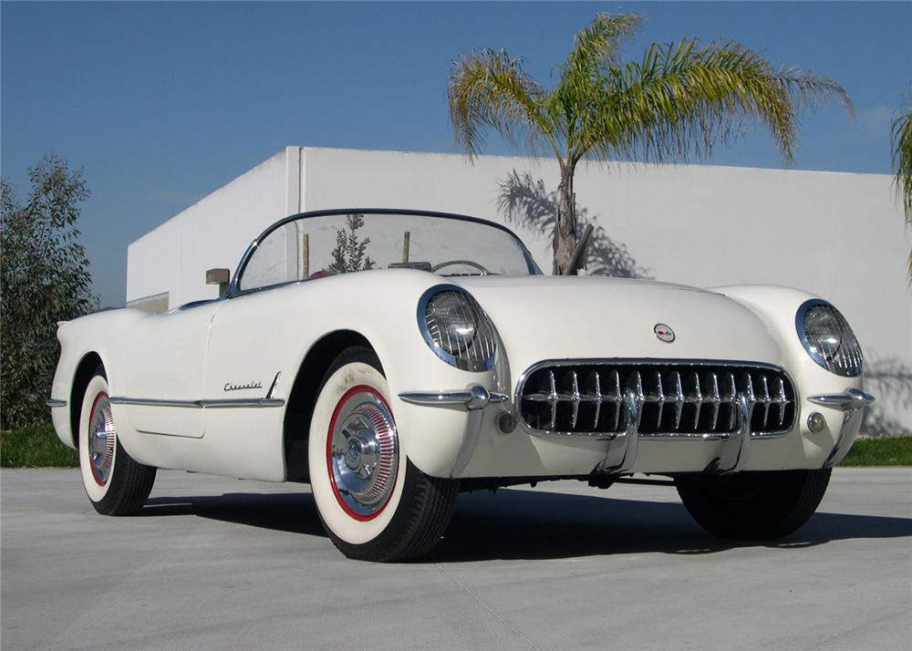 1954 CHEVROLET CORVETTE CONVERTIBLE - Front 3/4 - 64309