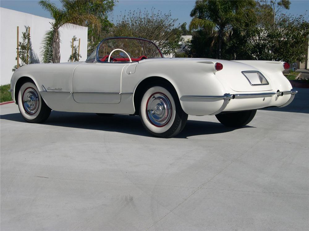 1954 CHEVROLET CORVETTE CONVERTIBLE - Rear 3/4 - 64309