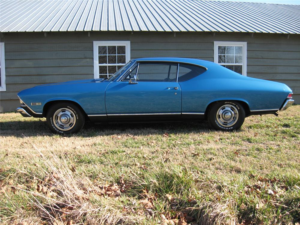 1968 CHEVROLET CHEVELLE SS 396 2 DOOR HARDTOP - Side Profile - 64317