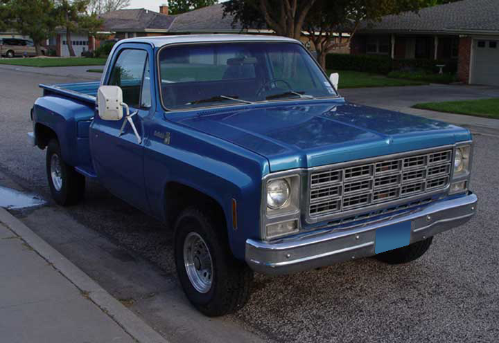 1979 CHEVROLET C-10 LONG BOX STEPSIDE PICKUP - Front 3/4 - 64328