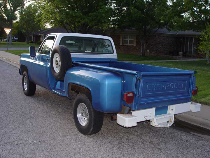 1979 CHEVROLET C-10 LONG BOX STEPSIDE PICKUP - Rear 3/4 - 64328